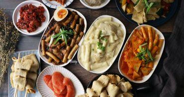 懶人料理   在家吃韓式辣炒年糕 辣醃章魚 明太魚卵 綜合魚板 紅雪蟹蟹膏 輕鬆上桌