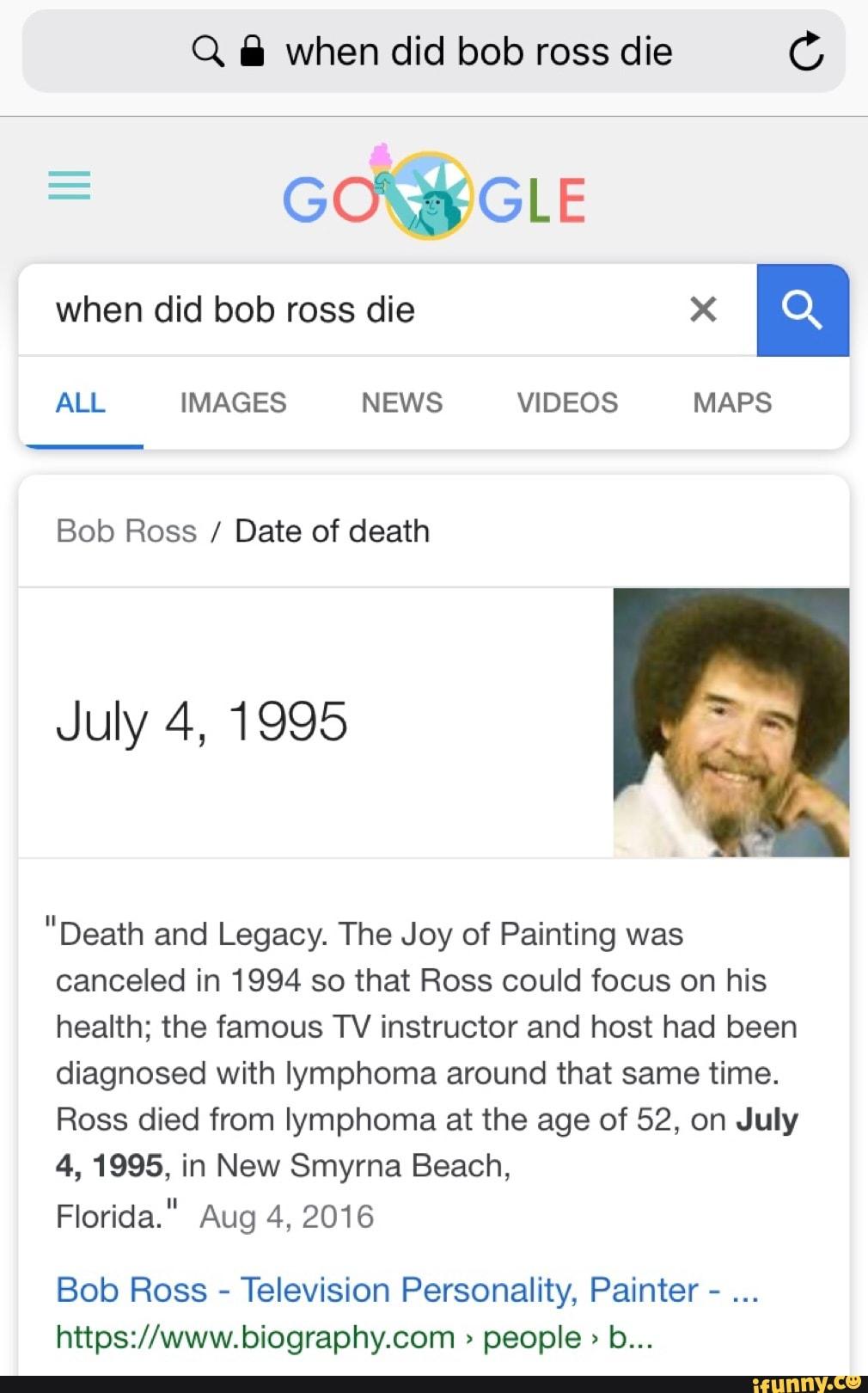 Did Bob Ross Die : IMAGES, VIDEOS, Death,