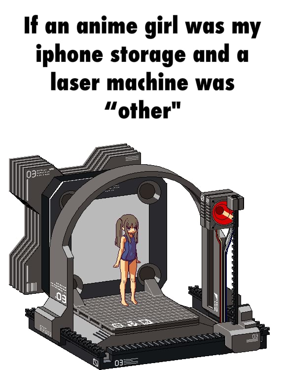 Laser Machine Girl : laser, machine, Anime, Iphone, Storage, Laser, Machine,