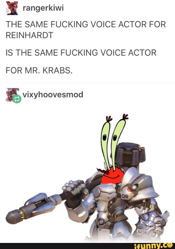 Mr Krabs Voice : krabs, voice, Rangerkiwi, FUCKING, VOICE, ACTOR, REINHARDT, KRABS., Vixyhoovesmod, IFunny