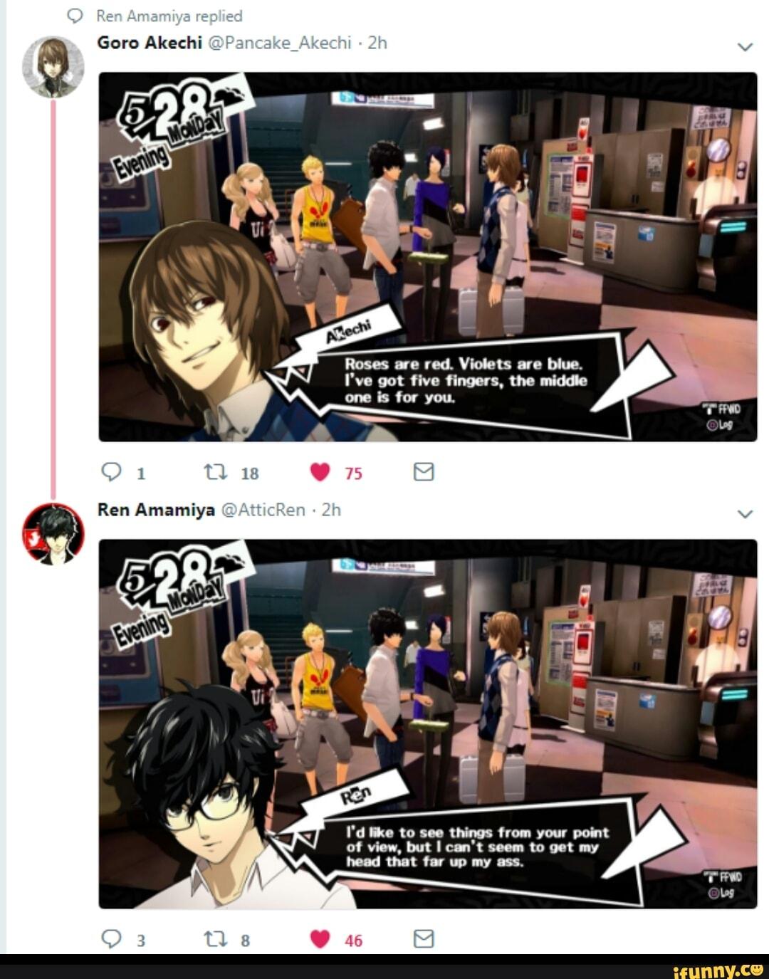 Akechi Meme : akechi, Akechi, Roses, Violets, Blue., IFunny