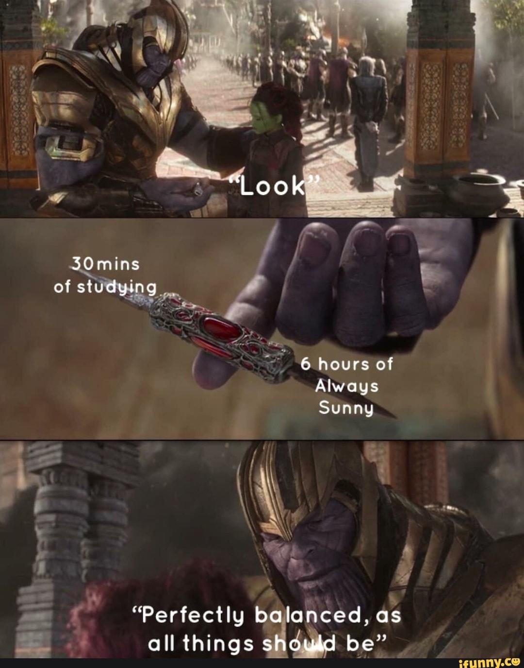 Thanos Balance Meme : thanos, balance, Perfectly, Balanced