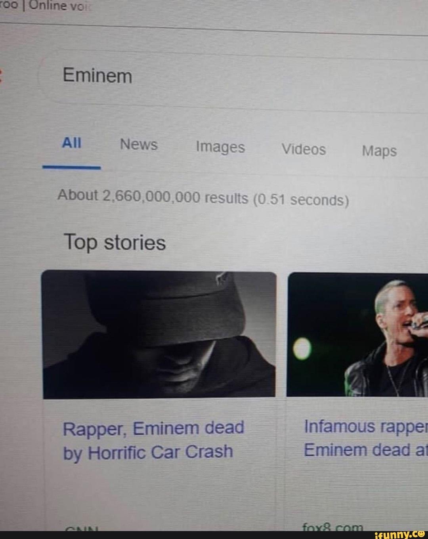Eminem Car Crash : eminem, crash, Uniine, Eminem, Rapper,, Infamous, Rappel, Horrific, Crash, IFunny