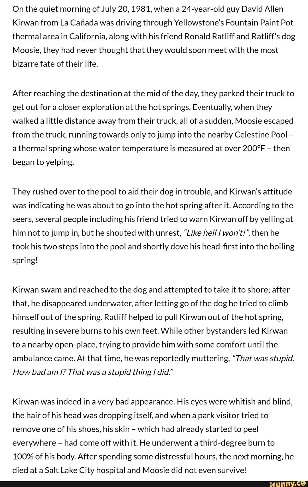 David Allen Kirwan : david, allen, kirwan, Quiet, Morning, 1981,, 24-year-old, David, Allen, Kirwan, Cafiada, Driving, Through, Yellowstone's, Fountain, Paint, Thermal, California,, Along