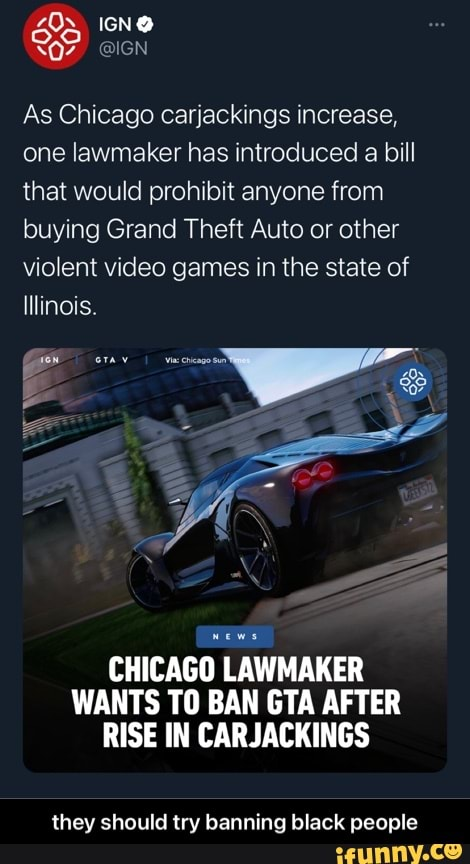 Can You Sell Cars In Gta V : Chicago, Carjackings, Increase,, Lawmaker, Introduced, Would, Prohibit, Anyone, Buying, Grand, Theft, Other, Violent, Video, Games, State, Illinois., CHICAGO