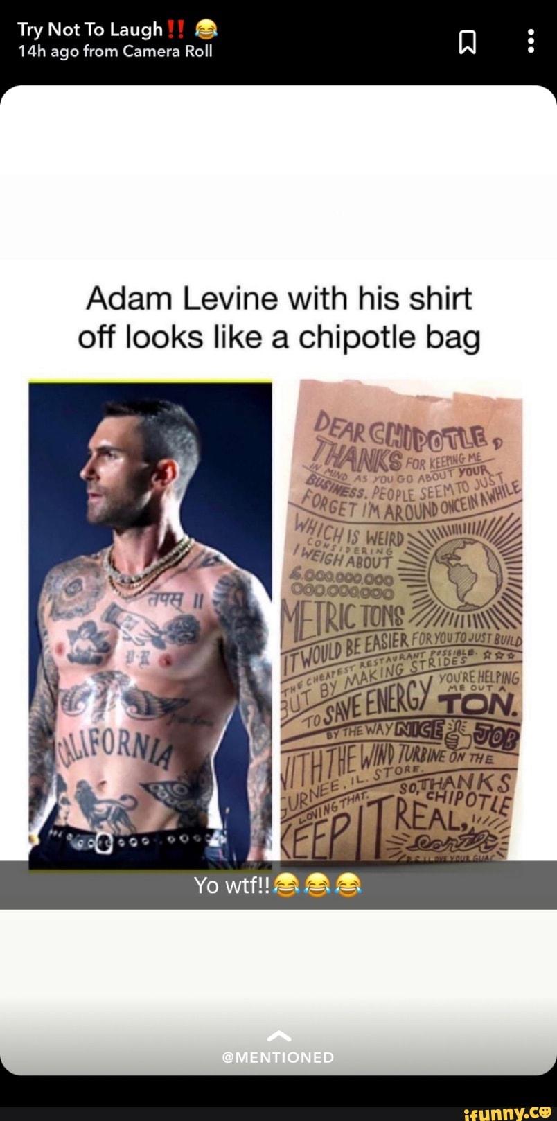 Adam Levine Tattoo Meme : levine, tattoo, Levine, Chipotle, Cipotvlog