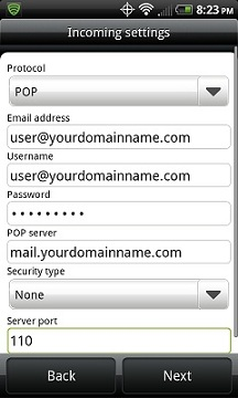Configure Android for NiceNIC POP Email Accounts - NiceNIC.NET