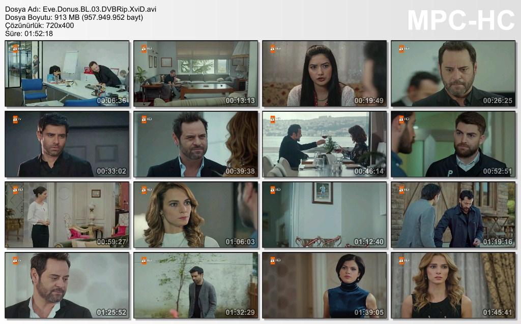 Eve Dönüş 3.Bölüm DVBRip XviD - Tek Link