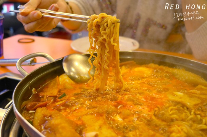 韓國首爾美食|明洞Red hong部隊鍋年糕鍋(原Red Sun),火鍋泡麵控別錯過