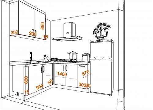 櫥櫃的尺寸一般是多少 如何選擇櫥櫃的尺寸 - 愛我窩