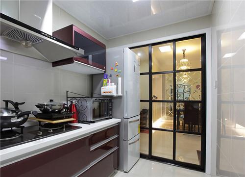廚房拉門裝修效果圖 愛上做飯從細節做起 - 愛我窩