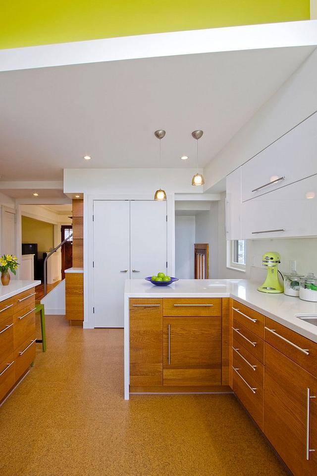 現代廚房舒適的軟木地板創意案例 - 愛我窩
