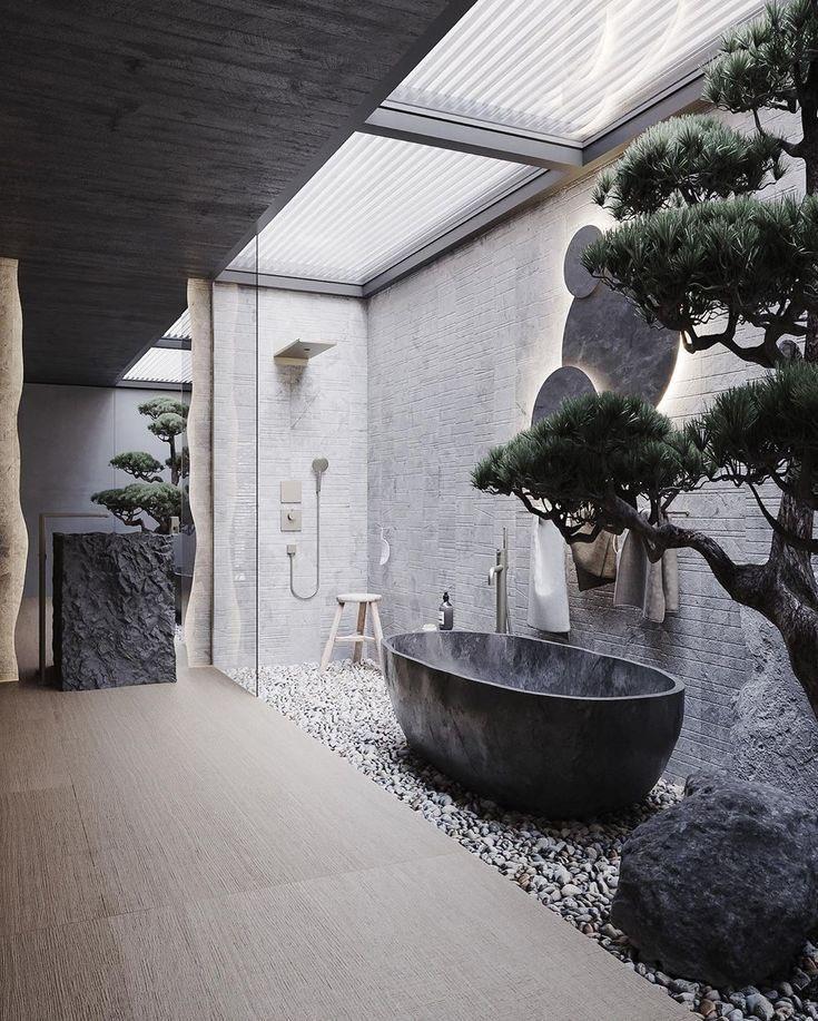下沉式庭院怎么設計 鋪上陶粒打造異域風情做洗衣房實用性高 - 愛我窩
