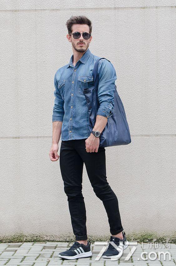 男生牛仔襯衫配什麼褲子好看 早秋這麼穿才夠cool - 愛我窩