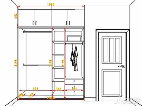 常用的衣櫃設計尺寸參考 - 愛我窩