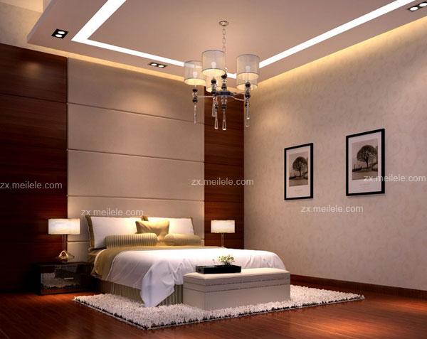 臥室天花板效果圖大全欣賞 - 愛我窩