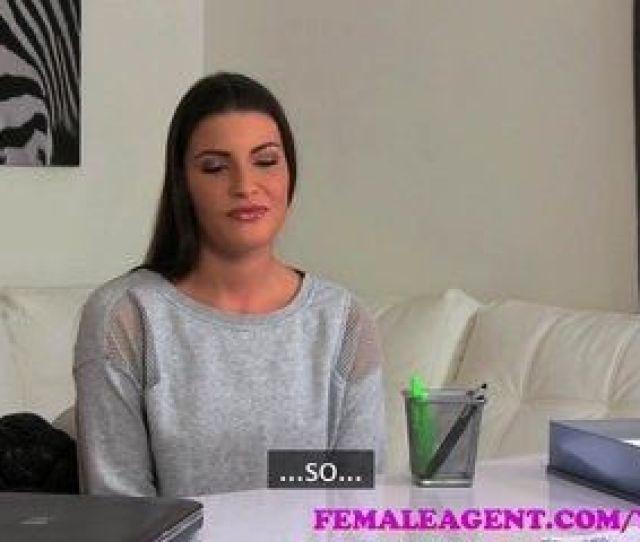 Femaleagent Sexy Blonde Seduces Delicious Brunette In Casting Interview