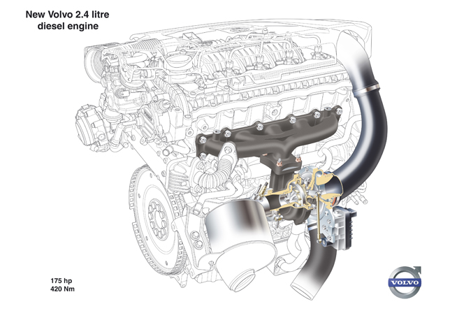Two new five-cylinder Volvo diesel engines on the S80 this