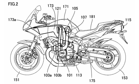 Yamaha\'s diesel motorbike ready; Patent and Images