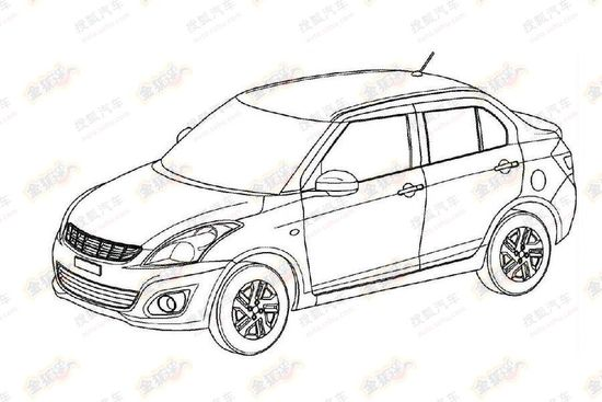 Patent leaks reveal that Swift Dzire is heading to China