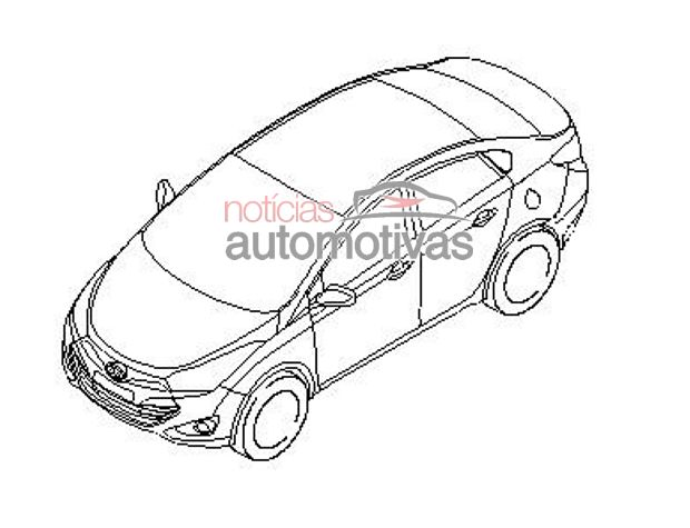 Hyundai HB20 sedan patent drawings leak online