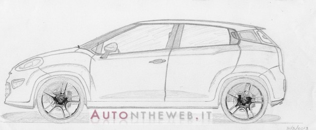 2015 Fiat Punto speculative free hand sketches/renders