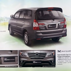 All New Toyota Kijang Innova V Luxury Audio Grand Avanza Brochure Scans Of The Facelift Available Scan