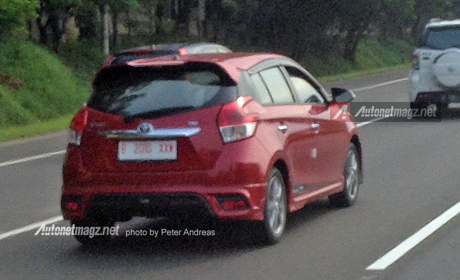 toyota yaris trd spoiler all-new camry (acv 70) facelift spied testing in indonesia rear