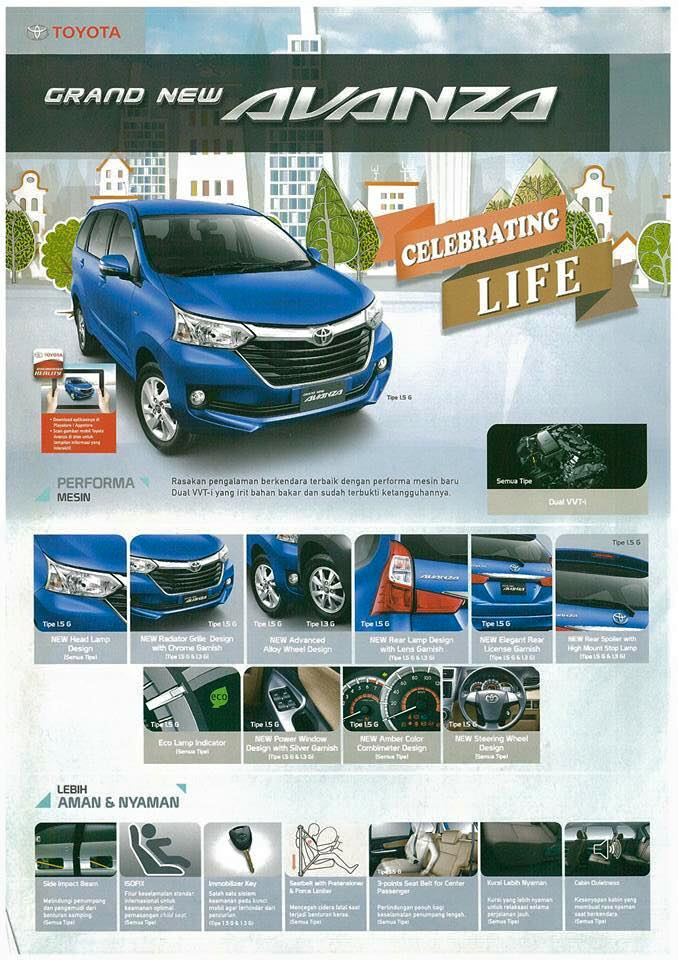no mesin grand new avanza headlamp 2015 toyota feature list leaks summary of features