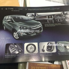 All New Kijang Innova Type Q Toyota Grand Avanza 2018 2016 Estimated To Cost 8 5 More Than Current Brochure