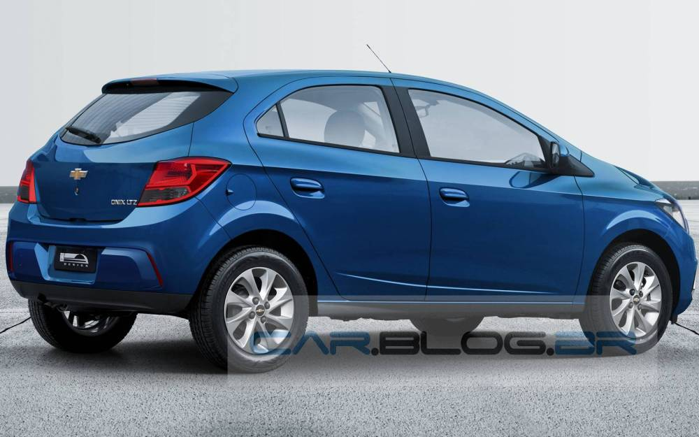 medium resolution of 2017 chevrolet onix facelift rear three quarter rendering