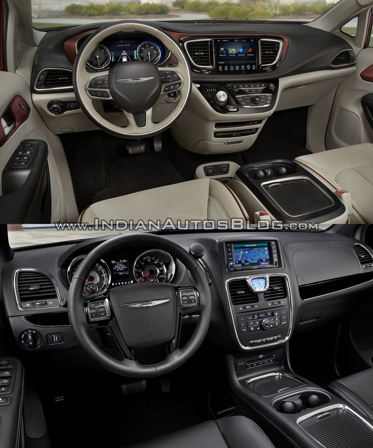 hight resolution of 2017 chrysler pacifica vs 2016 chrysler town u0026 country interior dashboard
