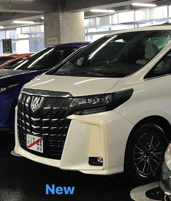 all new alphard 2018 grand avanza 1.3 g m/t toyota facelift spied in japan
