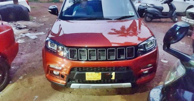 Maruti Vitara Brezza with custom Jeep Compass inspired grille