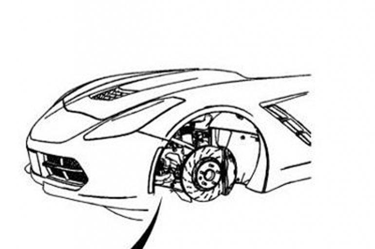 New Chevrolet Corvette C7's nose shown in service manual