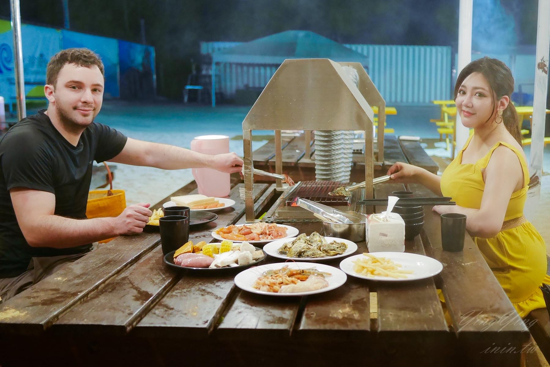 澎湖燒烤BBQ吃到飽   隘門陽光沙灘俱樂部BBQ吃到飽(送仙人掌冰棒) - 盈盈 棉花糖女孩