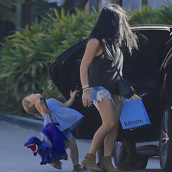Kourtney Kardashian Baby Penelope Slammed Car
