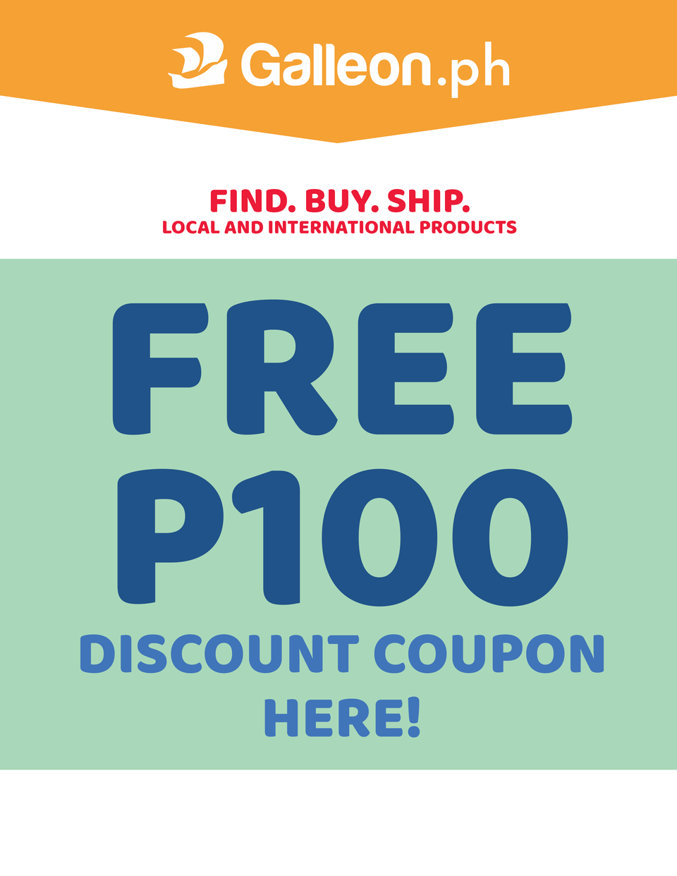 GalleonPH Free Php100