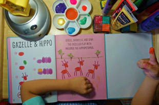 [居家感統遊戲]觸覺敏感的孩子|降敏又好玩的手指畫(顏料篇)