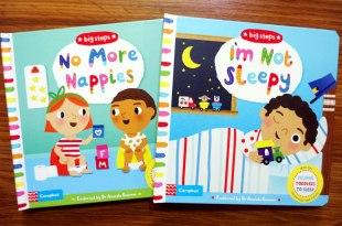 主題硬頁書(1)|big steps小人生活大進階:No More Nappies戒尿布|I'm Not Sleepy