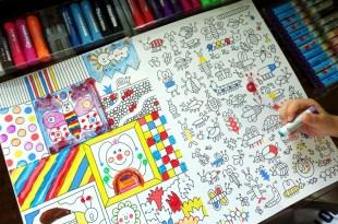 超棒的大尺寸硬頁畫冊:1001 Things to Colour 還有多本精彩畫冊大集合
