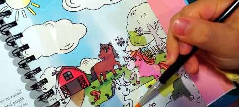 小孩好愛的神奇水畫著色冊3.0版|Magic Water Colouring:水畫。著色。塗鴨三合1