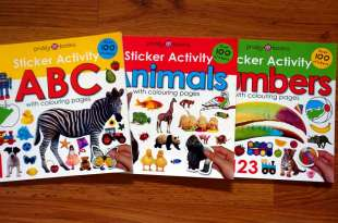 3本適合孩子的認知貼紙書|Sticker Activity ABC, Animals Numbers