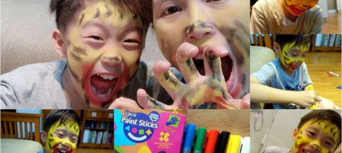 孩子根本愛到翻|英國Little Brian臉部專用水彩棒|畫臉實在好開心