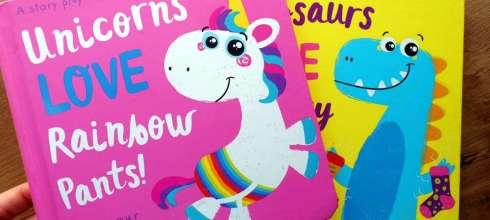 孩子自己拼故事|Unicorns LOVE Rainbow Pants! |故事創造拼卡書