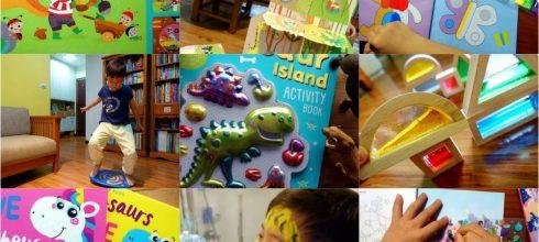 [限量書團] 愛小宜精選童書大集合: 遊戲書,貼紙書, 體能平衡板,木製教玩