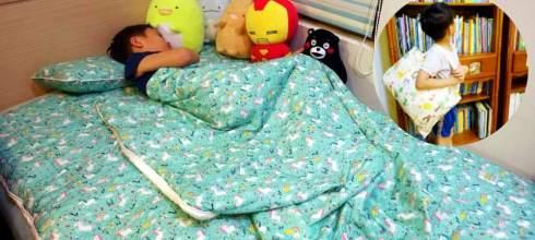 我們家用了2年的韓國WOW攜帶床睡組 是睡袋,床組,遊戲墊 從幼稚園用到國小沒問題
