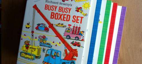 銷售千萬冊的經典手繪故事書|Richard Scarry的Busy Busy硬頁書盒|必備共讀書單