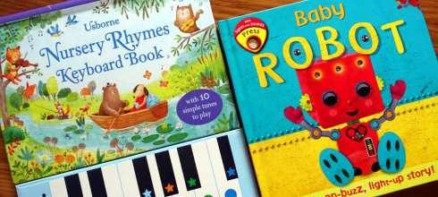 玩具書大集合|Baby Robot, 吉他鋼琴音效書|還有Poppy and Sam上鍊小汽車的軌道遊戲書