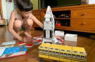 富教育意義的美國CreateOn磁力磚|123黃色校車, 銀河火箭|不同玩法更升級